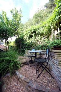 Seagate cottage rear patio area